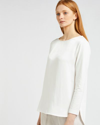 Carolyn Donnelly The Edit Curved Hem Satin Top thumbnail