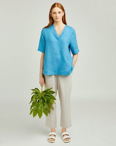 Carolyn Donnelly The Edit V-Neck Linen Top
