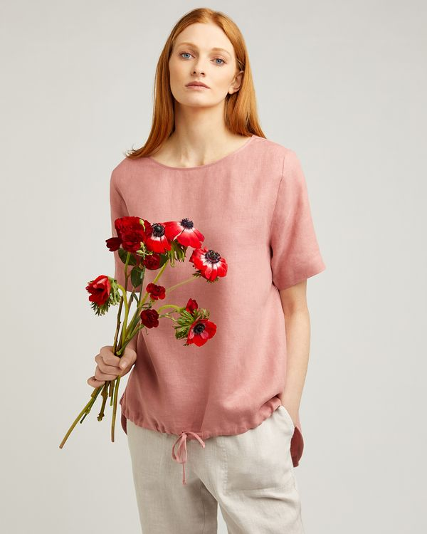 Carolyn Donnelly The Edit Drawstring Linen Top