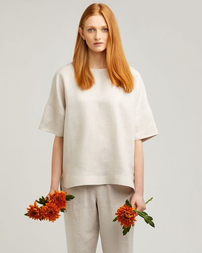 Carolyn Donnelly The Edit Boxy Linen Top thumbnail