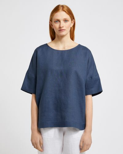 Carolyn Donnelly The Edit Boxy Linen Top
