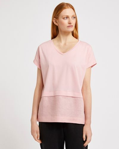 Carolyn Donnelly The Edit Dropped Shoulder Linen Top