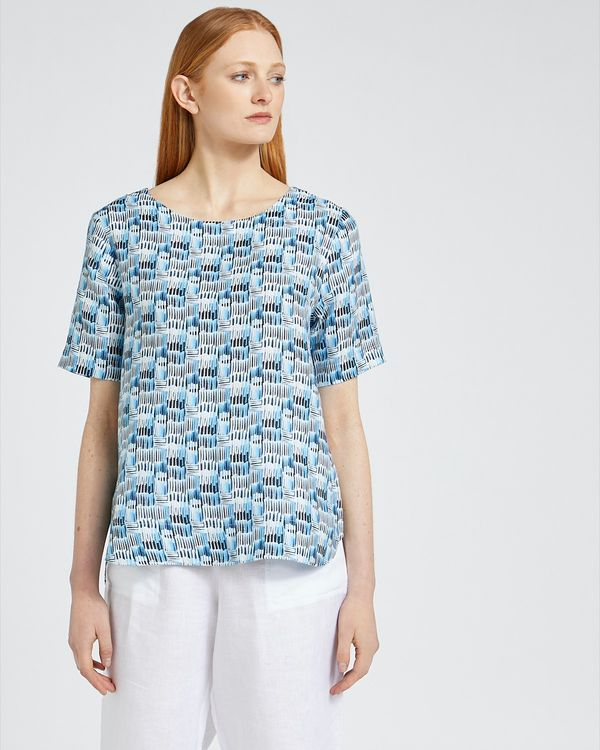 Carolyn Donnelly The Edit Print Linen Top