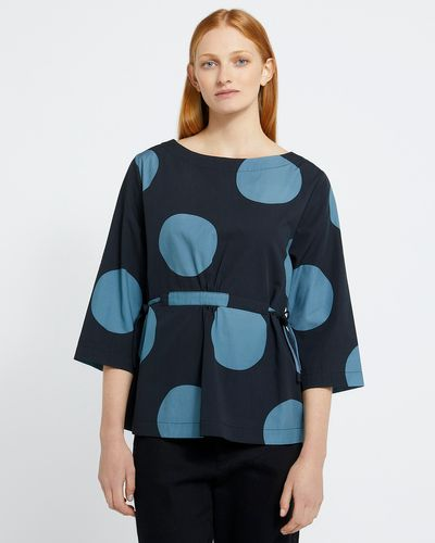 Carolyn Donnelly The Edit Spot Print Top