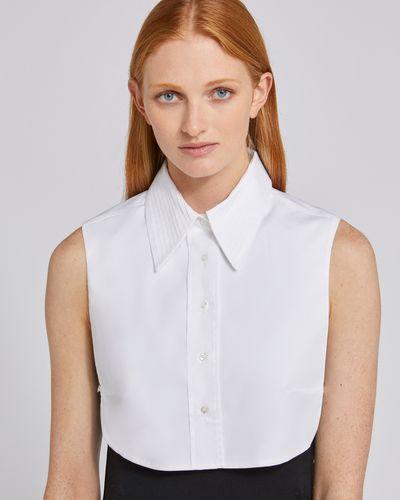 Carolyn Donnelly The Edit Pleat Collar Shirt Bib
