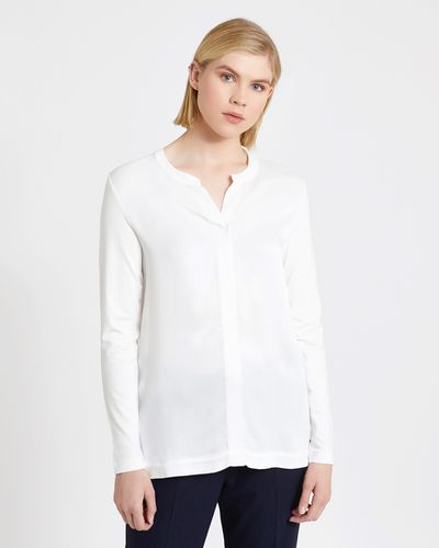 Carolyn Donnelly The Edit Bar Tack Blouse