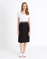black Carolyn Donnelly The Edit Linen Skirt