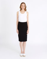black Carolyn Donnelly The Edit Jersey Skirt