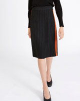 black Carolyn Donnelly The Edit Pinstripe Skirt