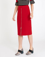red Carolyn Donnelly The Edit Zip Front Skirt