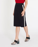navy Carolyn Donnelly The Edit Pinstripe Skirt