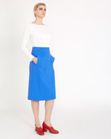 blue Carolyn Donnelly The Edit Front Pocket Skirt