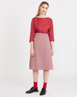 red Carolyn Donnelly The Edit Houndstooth Skirt