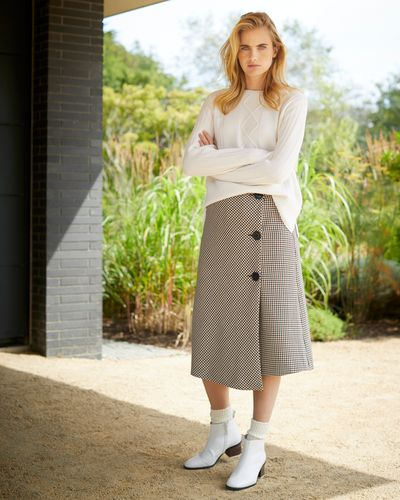 Carolyn Donnelly The Edit Bias Check Skirt