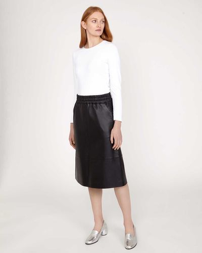 Carolyn Donnelly The Edit Leather Skirt