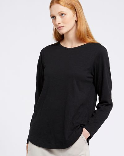 Carolyn Donnelly The Edit Black Cotton Top
