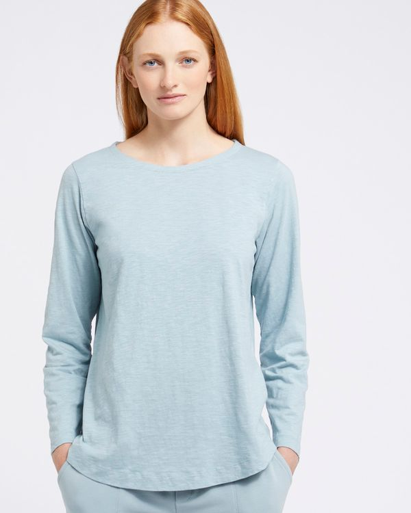 Carolyn Donnelly The Edit Blue Cotton Top