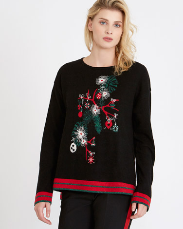 blackCarolyn Donnelly The Edit Christmas Sweater