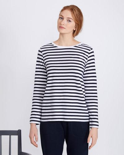 Carolyn Donnelly The Edit Stripe Long-Sleeved Top