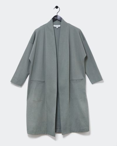 Carolyn Donnelly The Edit Jersey Throw On Coat
