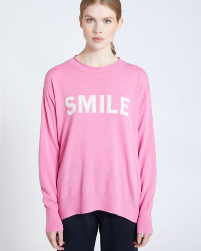 Carolyn Donnelly The Edit Smile Slogan Sweater
