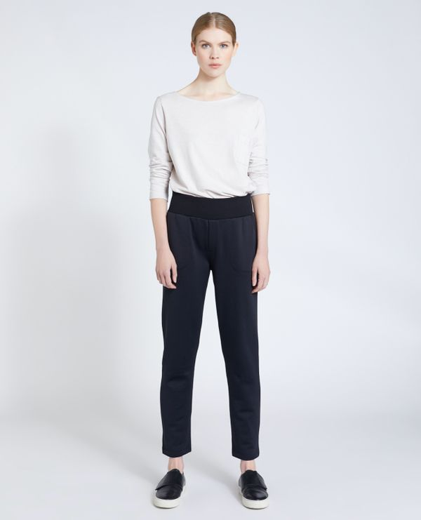Carolyn Donnelly The Edit Black Jersey Sweatpant