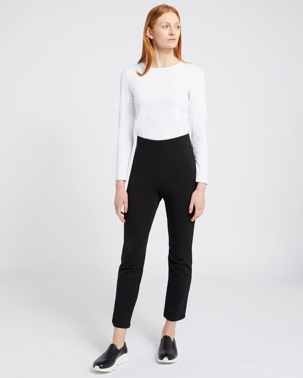 Carolyn Donnelly The Edit Black Straight Leg Jogger