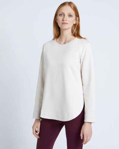 Carolyn Donnelly The Edit Stone Curved Hem Sweatshirt