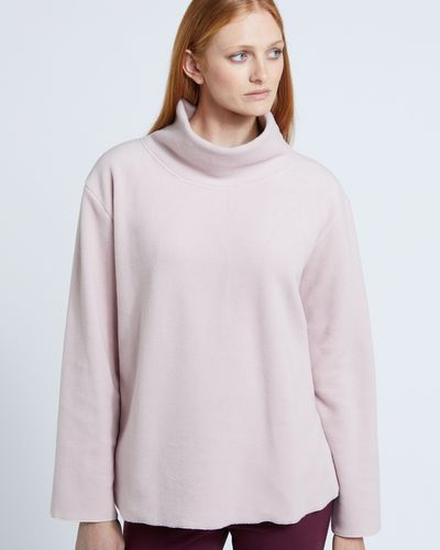 Carolyn Donnelly The Edit Brushed Polo Sweater
