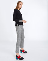 black Carolyn Donnelly The Edit Stripe Cuff Sweater