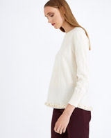 cream Carolyn Donnelly The Edit Frill Hem Sweater
