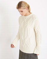 cream Carolyn Donnelly The Edit Cable Knit Jumper With Cashmere