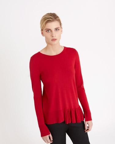 redCarolyn Donnelly The Edit Ruffle Hem Sweater