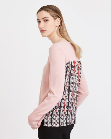 roseCarolyn Donnelly The Edit Print Back Sweater