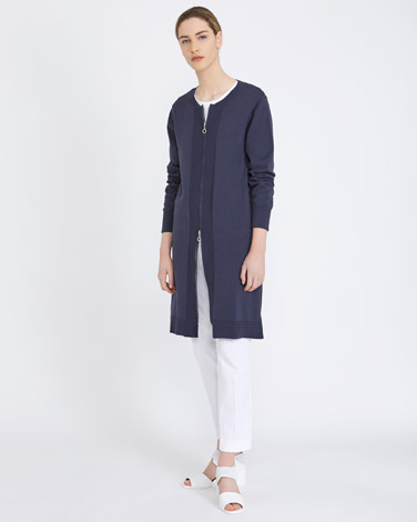 petrol Carolyn Donnelly The Edit Cotton Long Cardigan
