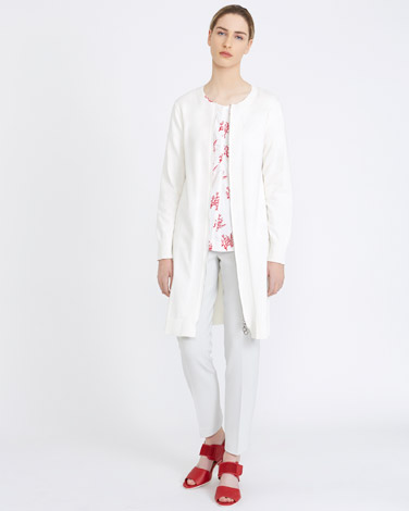 cream Carolyn Donnelly The Edit Cotton Long Cardigan
