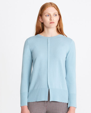 blue Carolyn Donnelly The Edit Merino Crew Sweater