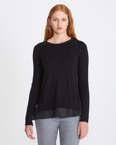 black Carolyn Donnelly The Edit Merino A-Line Sweater