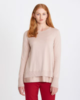 rose Carolyn Donnelly The Edit Merino A-Line Sweater