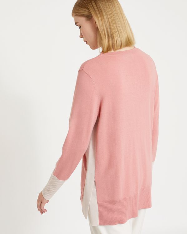 Carolyn Donnelly The Edit Side Contrast Merino Sweater
