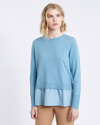 Carolyn Donnelly The Edit Merino Sweater With Cupro Hem