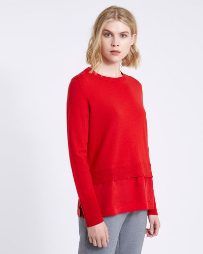 Carolyn Donnelly The Edit Merino Sweater With Cupro Hem thumbnail