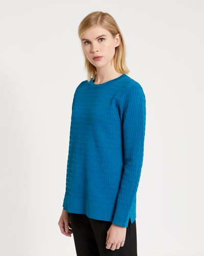 Carolyn Donnelly The Edit Geo Textured Sweatshirt