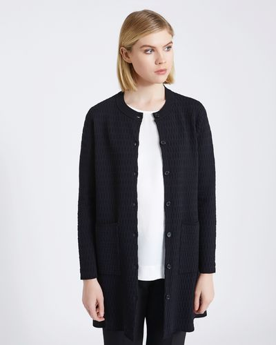 Carolyn Donnelly The Edit Geo Textured Cardigan