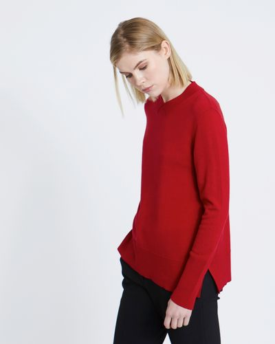 Carolyn Donnelly The Edit Collar Inset Merino Sweater
