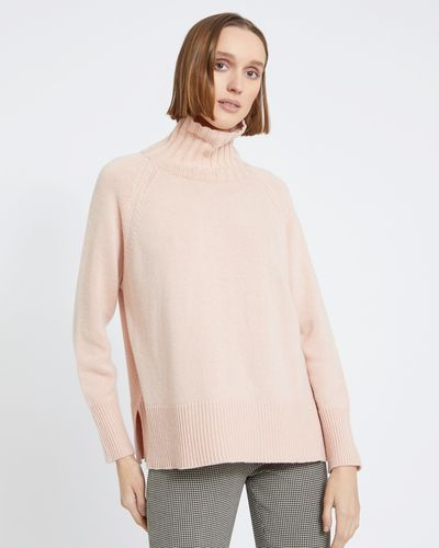 Carolyn Donnelly The Edit Cashmere Mix Raglan Polo Sweater