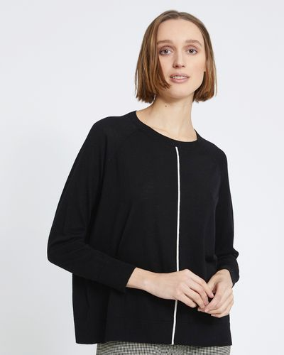 Carolyn Donnelly The Edit Merino Contrast Trim Sweater