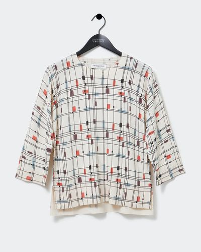 Carolyn Donnelly The Edit Mondrian Print Sweater