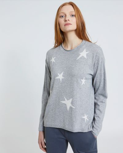 Carolyn Donnelly The Edit Grey Star Sweater