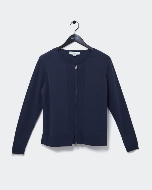 Carolyn Donnelly The Edit Cotton Zip Cardigan